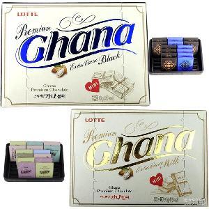 韓國進口兒童休閑食品零食糖果批發樂天黑紅加納巧克力90g*24盒