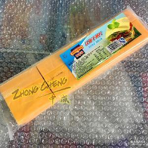 黃片原包裝 百吉福芝士片車打奶酪片漢堡奶酪片法國 80片裝960g