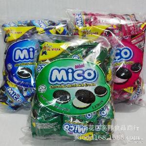 MICO376g 马来西亚进口饼干阿里巴巴奥利奥牛奶草莓夹心饼干MINI
