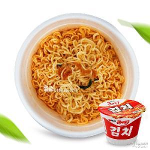 韓國進口食品零食批發農心辣白菜面桶裝112g*16桶/箱