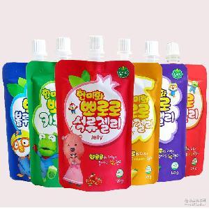 韩国进口果冻韩美禾啵乐乐果味吸得冻120g 72袋/箱 6种口味