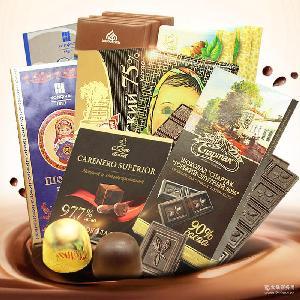 純巧克力 俄羅斯進口食品 黑巧克力 零食 批發 入口即化 純可可
