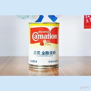 雀巢淡奶 雀巢三花淡奶410g 烘焙甜品原料 雀巢三花全脂淡奶