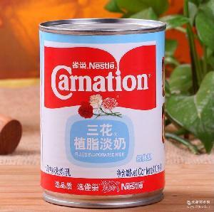 Nestle雀巢三花植脂淡奶410g 烘焙甜品原料 港式奶茶花奶