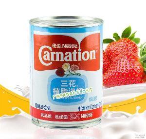 奶茶咖啡伴侶 正品原裝 雀巢三花植脂淡奶 烘焙原料 淡煉乳 410g
