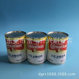 咖啡奶茶伴侶做甜點 雀巢三花全脂淡奶 烘焙原料410g