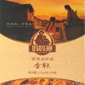 【妈妈抱】香辣金针菇1400G礼盒休闲食品零食地方特产 一件代发