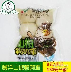 泡椒鹌鹑蛋一袋5斤装批发 靖江特产 骥洋山椒鹌鹑蛋 真空独立包装