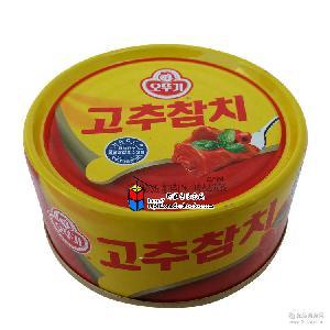150g*36盒/箱 韩国进口罐头 不倒翁辣味金枪鱼罐头辣椒味