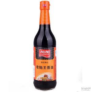 厂方代理加加老抽王500ML 瓶装炒菜红烧酱油调味品批发G