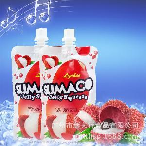 素瑪哥荔枝味可吸果凍150g 水果味果凍 馬來西亞進口 休閑零食
