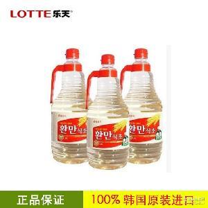 寿司料理用 发酵日式醋 韩国进口乐天韩万食醋1.8L*9瓶/箱
