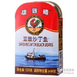 ayam 豆豉沙丁鱼罐头 雄鸡标 马来西亚进口 brand 120g*24