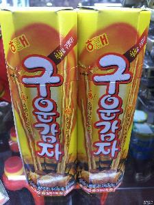 韓國進口零食 海太碳烤薯棒餅干1500薯條非油炸48g*15