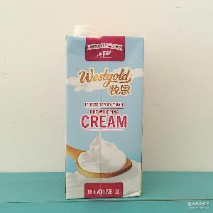 易打发蛋糕裱花奶油1L*12 新西兰牧恩淡奶油 稀奶油 动物性奶油