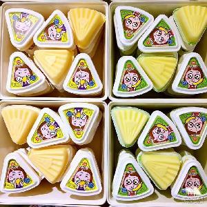 三角形果冻 10斤/件 小 萌小亲含乳布丁果冻 单个约70克