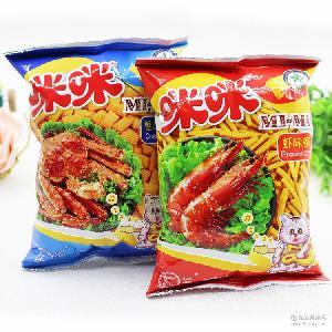 馬來西亞風味咪咪蝦條蟹味粒80后懷舊零食小吃膨化食品整箱90g*48
