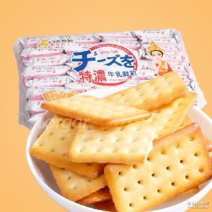 牛奶味餅干休閑早餐食品 泰國進口零食刷我的卡500g特濃牛乳鮮餅