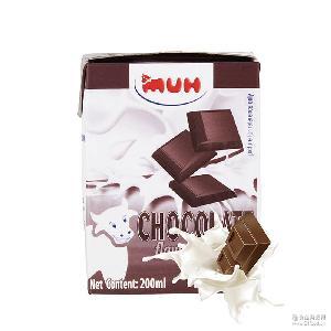 甘蒂巧克力牛奶 200ml*12瓶 進口批發 整箱批發 進口MUH牧牌牛奶