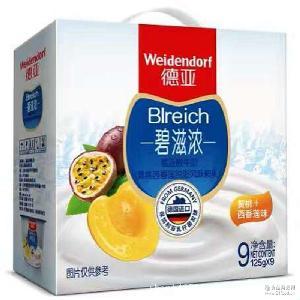 德國原裝進口 德亞酸牛奶(黃桃西番蓮脫脂風味酸乳) 進口酸奶