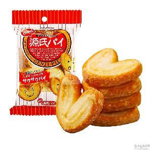休闲零食饼干 三立小源氏迷你蝴蝶酥饼40g*64袋 日本进口