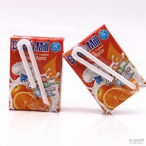 泰国进口酸奶批发 乳饮料 达美酸奶橙子味90ML*48盒