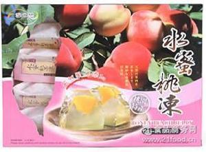 进口台湾雪之恋水蜜桃果冻 批发 500克*20盒