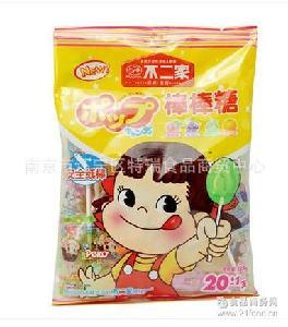 批發不二家水果棒棒糖125g/包4口味20支休閑糖果零食
