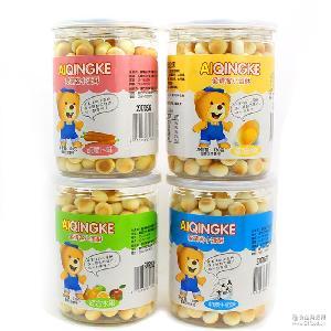 爱请客小蛋酥 整箱24罐包邮台湾进口食品 宝宝辅食小馒头饼干批