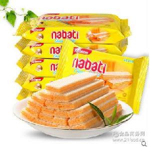 零食品 3味威化饼干58g*60包 芝士 印尼丽芝士进口巧克力 香草
