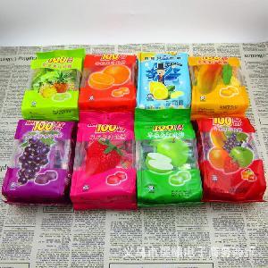 马来西亚一百份芒果草莓菠萝果汁软糖150g8味一箱12包保质期2年