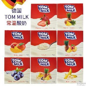 德國TOM MILK湯姆常溫酸奶500g(125g*4盒)風味發酵乳水果味酸乳