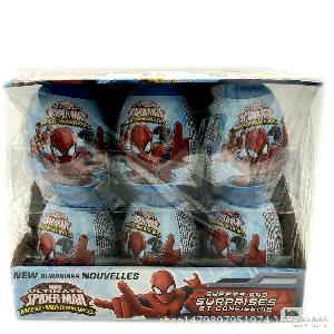 組12組 箱 蜘蛛俠玩具蛋糖果18粒 批發供應進口兒童玩具糖果