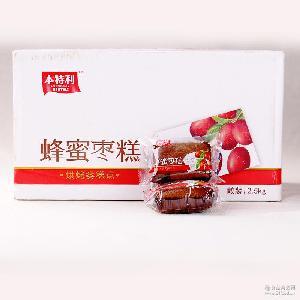热卖5斤本特利蜂蜜枣糕  独特风味零食批发 休闲零食厂家直销
