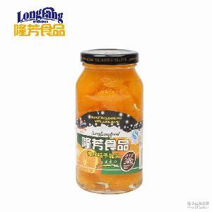 248g糖水桔子水果玻璃瓶罐头食品批发厂家直销 隆芳罐头