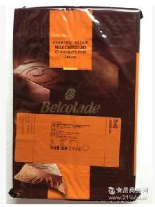 比利时原装进口 焙乐道贝可拉30%牛奶巧克力块2.5kg西点装饰烘焙