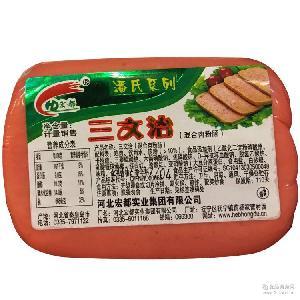 批发便宜三文治香肠肉灌肠混合肉粉肠火腿400g早方火腿餐饮
