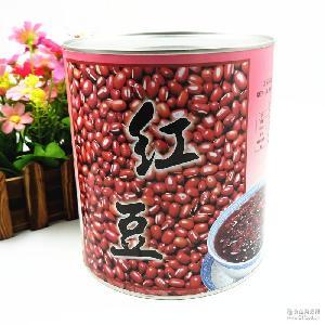 即食糖水红豆罐头 甜品原料 批发名忠红豆900g