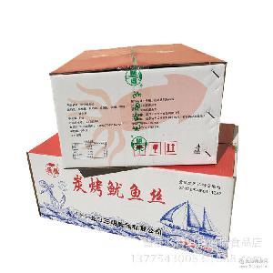 紅魷魚絲燒烤墨魚絲魷魚條 海能碳烤絲 5kg/箱 譽蝶碳烤魷魚絲