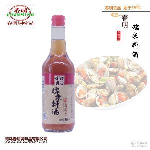 上等原料 味道好 青岛特产 春明料酒500ml瓶装糯米料酒 口感佳