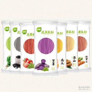小吃炒米粉米线 原生态七彩米粉厂家 蔬果米粉 350g营养蔬菜米粉