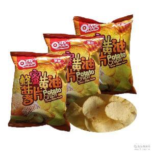 台湾进口 休闲小吃膨化食品46g 华元欧曼思蜂蜜黄油薯片