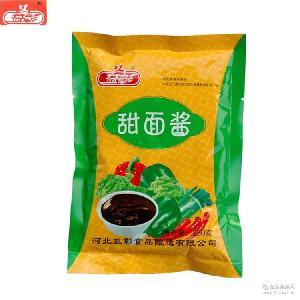 无添加三鲜豆瓣酱调味品批发厂家直销250g黄豆酱 益彰袋装甜面酱