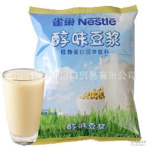 雀巢醇味豆浆粉500g家庭早餐速溶冲饮固体大豆甜豆奶