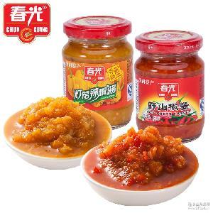 春光食品 野山椒 海南特产 香辣 厨房调味酱150g灯笼辣椒酱 特辣