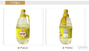 料酒調料 韓國料酒1.8L 韓國進口米香  6瓶不倒翁味香日常調味品