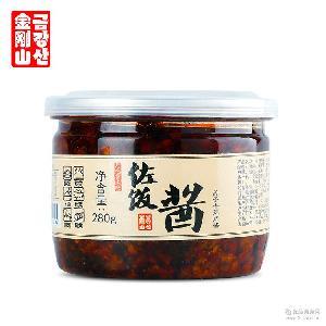 延边特产金刚山香辣肉酱 拌饭调味辣椒酱下饭酱秘制酱料批发