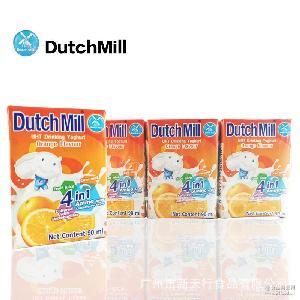 果味酸奶 泰國進口 90ml*4/組 營養美味常溫 達美橙味酸奶飲品