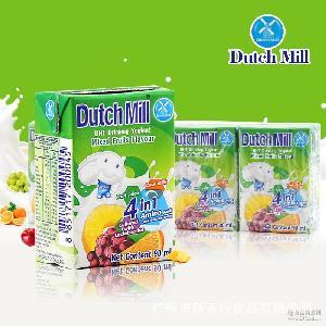 泰國進口酸奶 4盒/組營養美味 達美酸奶飲品(混合果味)90ml
