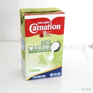 調制淡奶煉乳 三花全脂椰子口味淡奶批發 雀巢三花椰子味淡奶